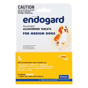 Endogard For Medium Dogs 22 Lbs 10kg 4 Tablet