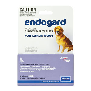 Endogard For Large Dogs 44 Lbs 20kg 2 Tablet