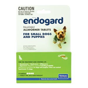 Endogard For Small Dogs And Puppies 11 Lbs 5kg 4 Tablet