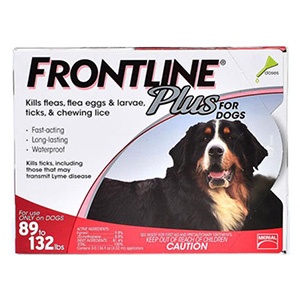 Frontline Plus Extra Large Dogs Over 89 Lbs Red 3 Doses