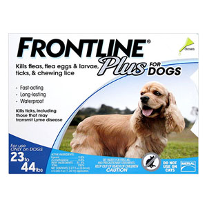 Frontline Plus Medium Dogs 23-44 Lbs Blue 3 Doses