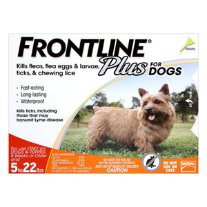 Frontline Plus Small Dogs Up To 22lbs Orange 3 Doses
