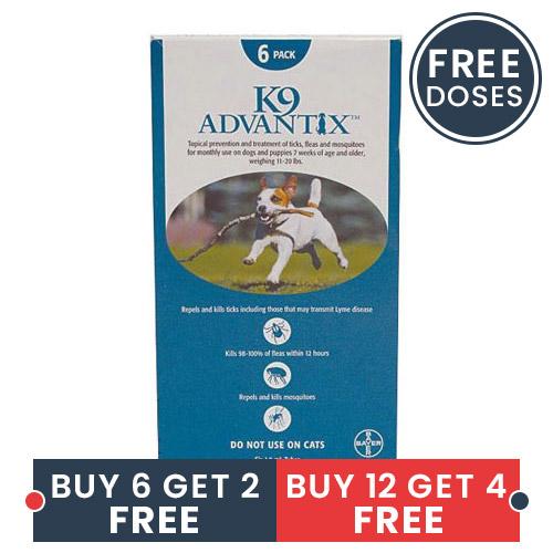 K9 Advantix Medium Dogs 11-20 Lbs Aqua 4 Doses