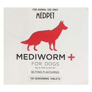 Mediworm Plus For Dogs 22 Lbs 10 Kg 4 Tablet