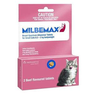 Milbemax Cats Upto 2kg 2 Tablet