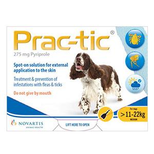 Prac-Tic Spot On For Medium Dog: 25-50 Lbs Yellow 3 Pack