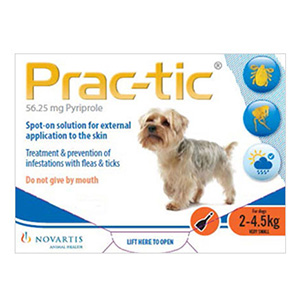 Prac-Tic Spot On For Very Small Dog: 4.5-10 Lbs Orange 12 Pack
