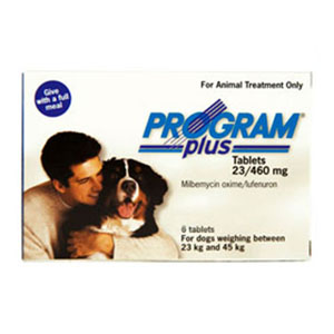 Program Plus For Dogs 46 - 90 Lbs White 12 Tablet