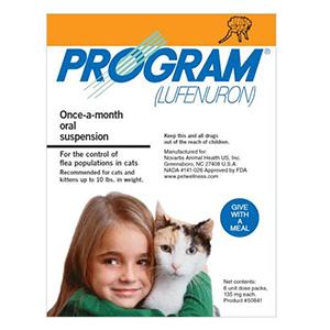 Program Oral Suspension 0-10 Lbs Cats Orange 12 Ampules