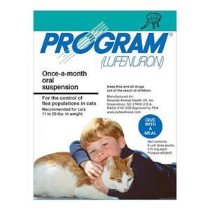 Program Oral Suspension 11-20 Lbs Cats Teal 12 Ampules