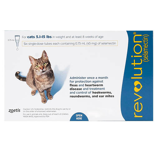 Revolution Cats 5 -15lbs Blue 12 Doses