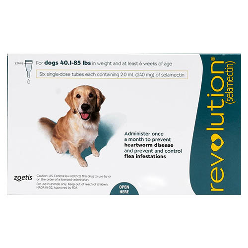 Revolution Large Dogs 40.1-85lbs Green 6 Doses