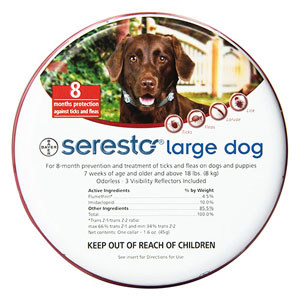 Seresto Collar For Large Dogs Over 18 Lbs 27.5 Inch 70 Cm 1 Piece