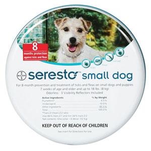 Seresto Collar For Small Dogs Upto 18 Lbs 15 Inch 38 Cm 1 Piece