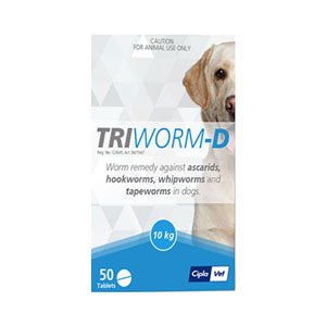 Triworm-D Dewormer For Dogs 4 Tablet